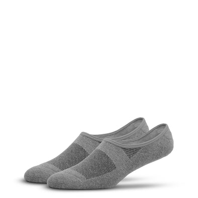 MEN'S SILVER NO SHOW SOCKS | GREY
