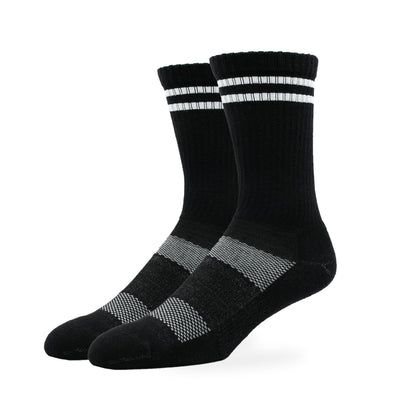 MEN'S SILVER RETRO SOCKS | BLACK