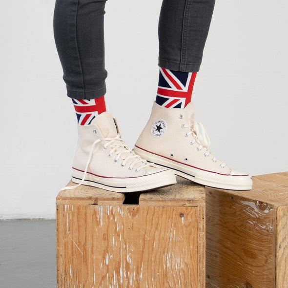MEN'S SILVER CREW SOCKS | UNION JACK