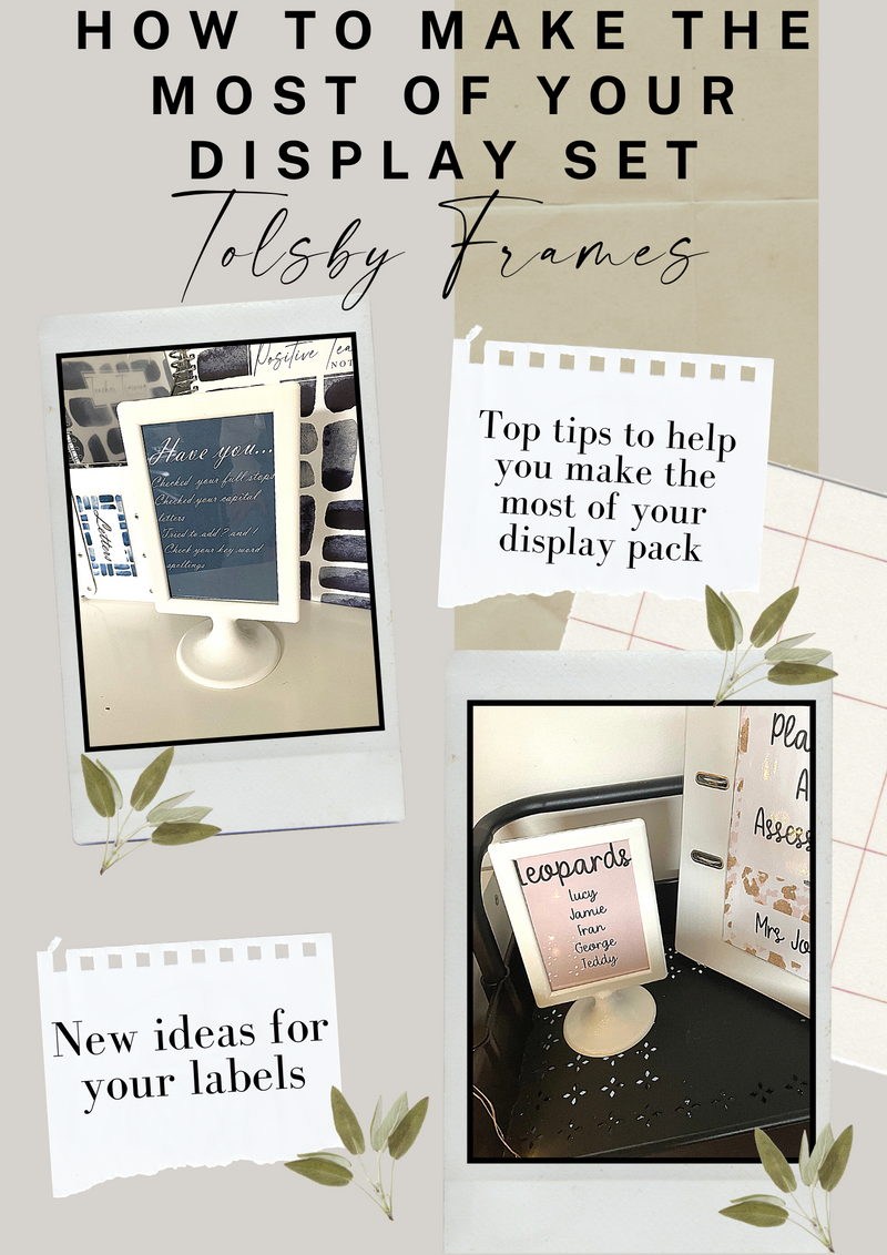 How to make the most of your display set: Tolsby Frames