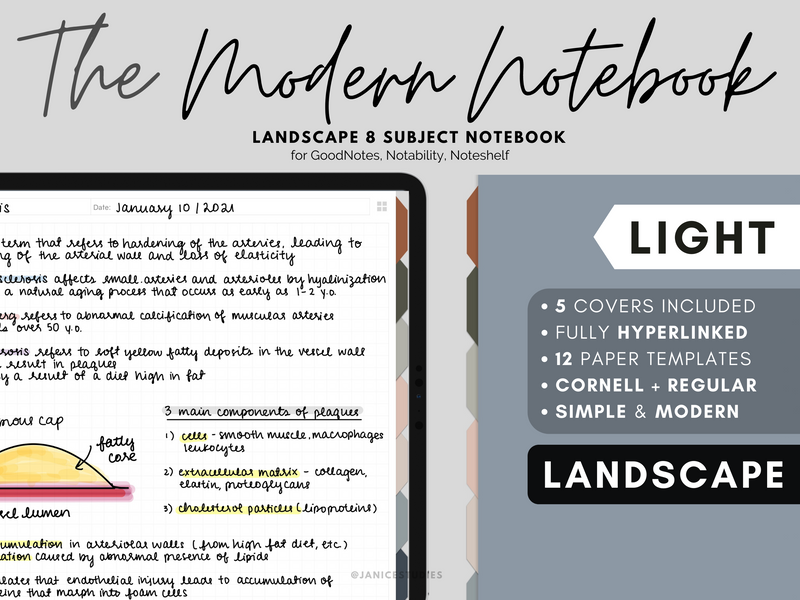 The Landscape Modern Notebook