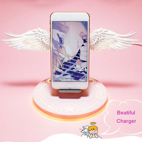 Angel Wings Wireless Charger Charge Dock