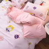 Kawaii Sailor Moon Cotton Bedding Set With Pillow Cases