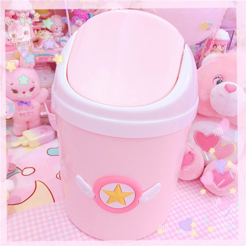 Pink Mini Kawaii Desktop Sailor Moon Bin