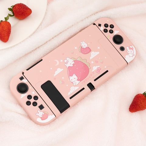 Kawaii Strawberry Rabbit Fairy cover for Nintendo Switch