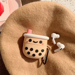 Kawaii Bubble Milk Tea Cover For Airpods