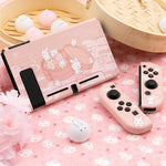 Kawaii Pink Bunny Switch Skin For Nintendo Switch Game Console