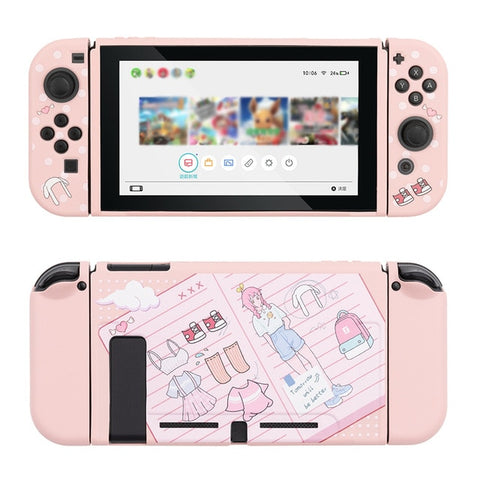 Kawaii Pink dressing Switch Skin For Nintendo Switch Game Console