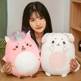 Kawaii Pink Unicorn Plush Toy 3 in 1 Hand Warmer
