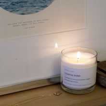 Load image into Gallery viewer, Medium size coconut soy wax scented candle, minimalist, 8 ounces, beachy, sea salt surf, clean burning