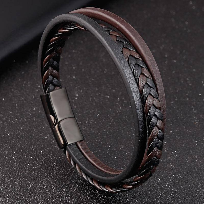 On The Move Braided Leather Bracelet - moderncaveman
