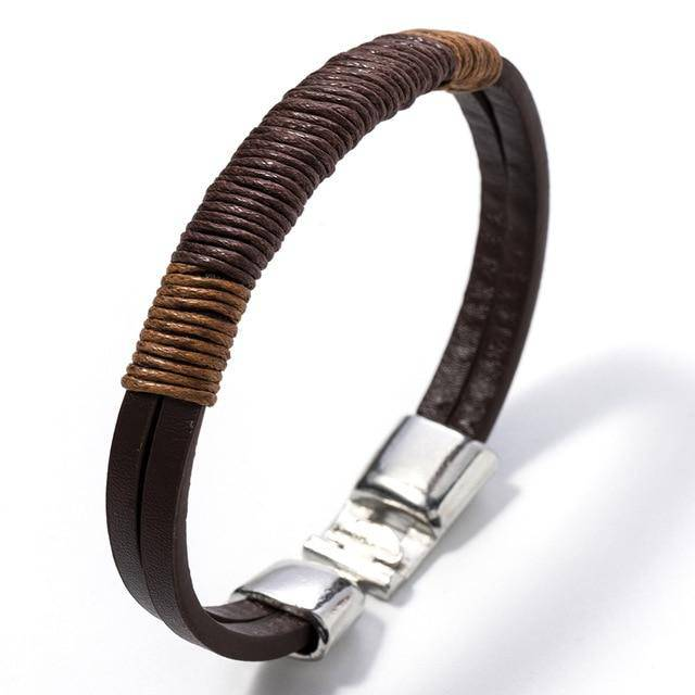 Next Level Leather Bracelet - moderncaveman