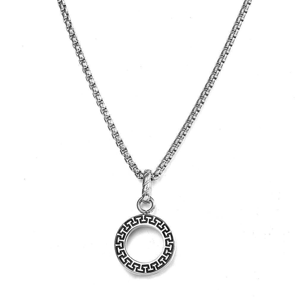 Hunter Circle Pendant Necklace - moderncaveman