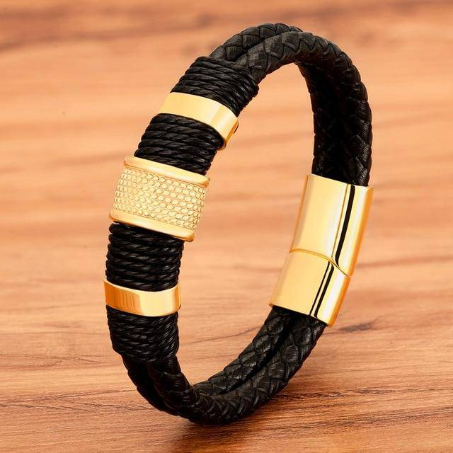 Eyes On Me Woven Leather Bracelet - moderncaveman