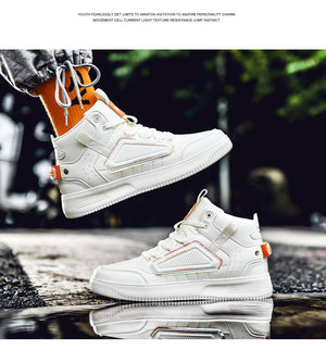 Stay Playing High Top Sneakers - moderncaveman