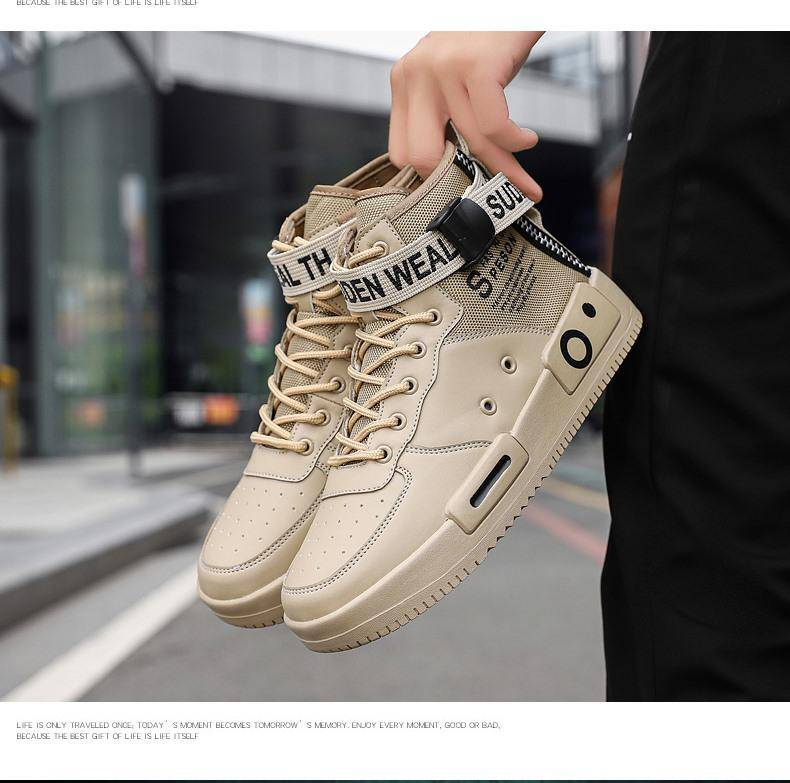 Keeping Distance High Top Sneakers - moderncaveman