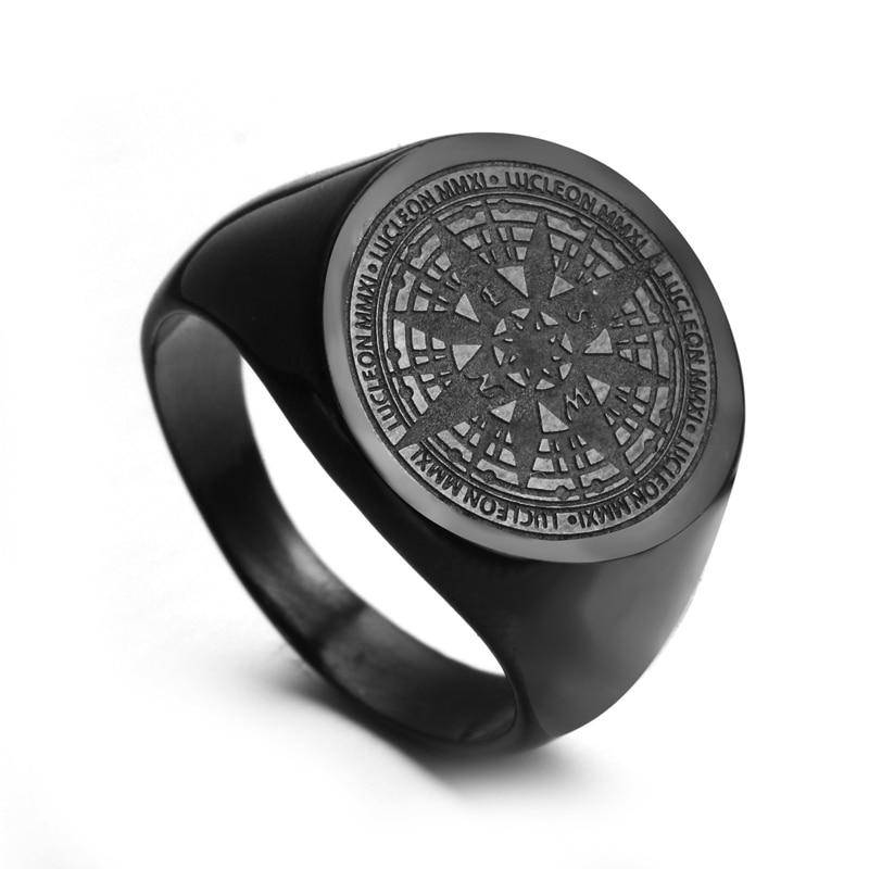 Compass Stainless Steel Ring - moderncaveman