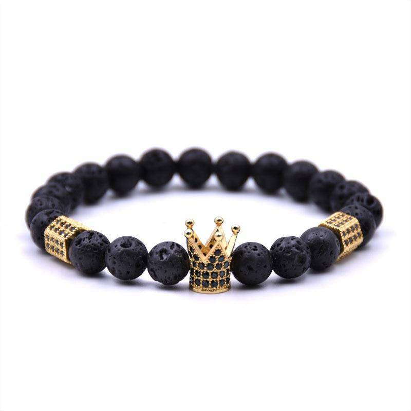 Lava King Crown Beaded Bracelet - moderncaveman