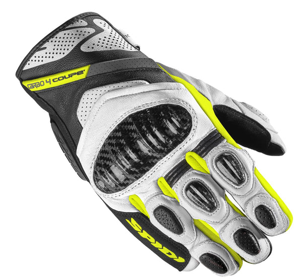 Spidi IT C4 Coupe CE Gloves Black Fluo Yellow