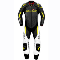 Spidi GB Supersport Wind Pro Leather Suit-Black/White/Yel