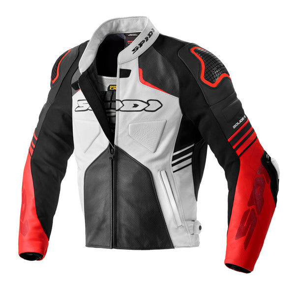 Spidi IT Bolide Perforate CE Jkt Blk Red