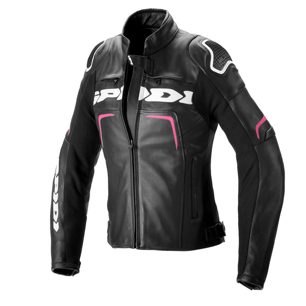 Spidi IT Evorider 2 CE Leather Lady  Jkt Blk Fucshia