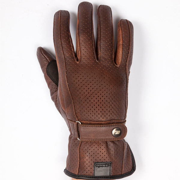 Spada Leather Gloves Free Ride Breeze CE Ladies Brown