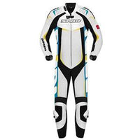 Spidi IT Track Wind Pro CE Leather Suit-White/Blue/Green
