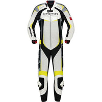 Spidi IT Track Wind Pro CE Leather Suit-Yellow Fluo