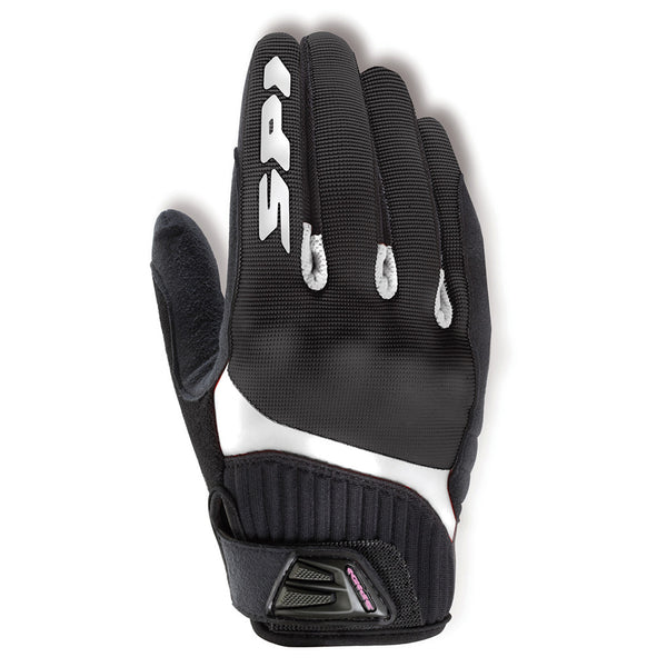 Spidi GB G-Flash Lady Textile Gloves-Blk/White
