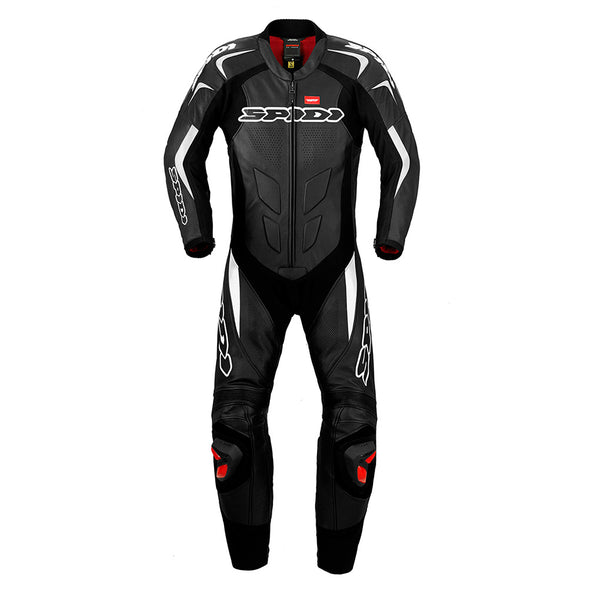 Spidi Supersport Wind Pro Leather Suit-Black/White
