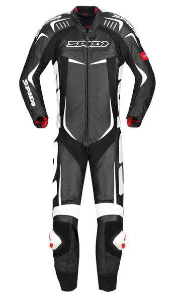Spidi IT Track Wind Pro CE Leather Suit-Black/White