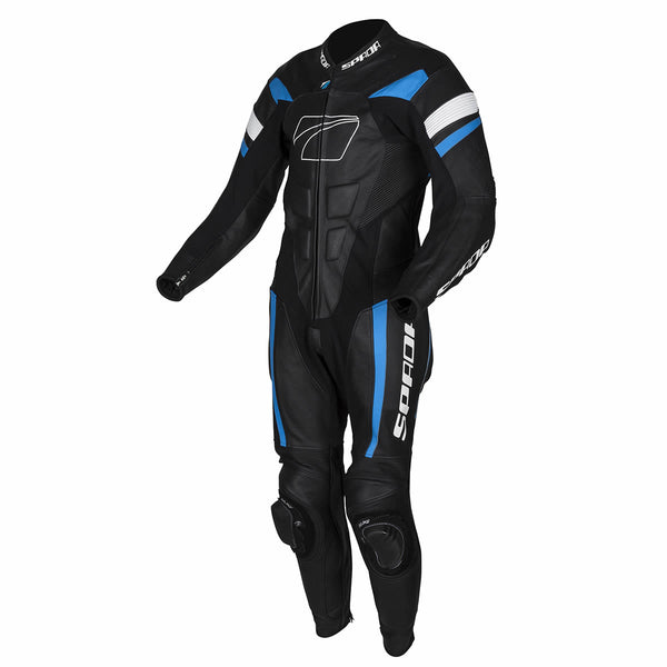 Spada Leather Suit 1 piece Curve Evo Black/Blue/White