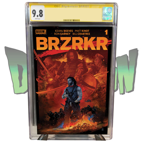 BRZRKR #1 DIMENSION X COMICS EXCLUSIVE VANCE KELLY RED CHASE VARIANT CGC SIGNATURE SERIES 9.8