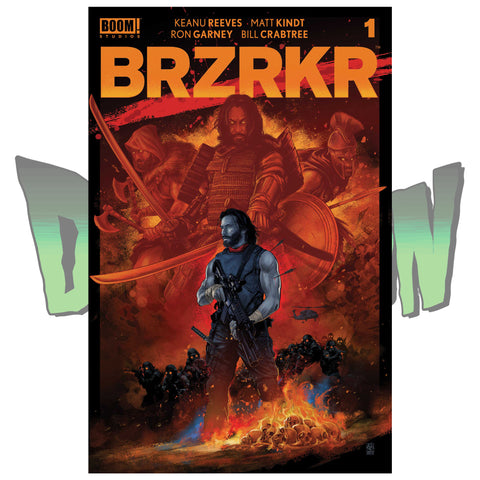 BRZRKR #1 VANCE KELLY DIMENSION X COMICS EXCLUSIVE RED, RED CHASE, AND GREEN VARIANT SET 02/24/21