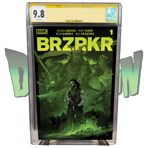 BRZRKR #1 DIMENSION X COMICS EXCLUSIVE VANCE KELLY GREEN VARIANT CGC SIGNATURE SERIES 9.8