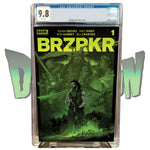 BRZRKR #1 VANCE KELLY DIMENSION X COMICS EXCLUSIVE GREEN VARIANT CGC 9.8