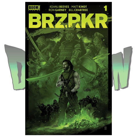 BRZRKR #1 VANCE KELLY DIMENSION X COMICS EXCLUSIVE RED AND GREEN VARIANT SET 02/24/21
