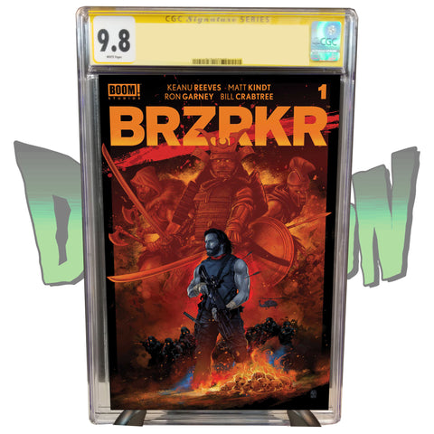 BRZRKR #1 DIMENSION X COMICS EXCLUSIVE VANCE KELLY RED VARIANT CGC SIGNATURE SERIES 9.8