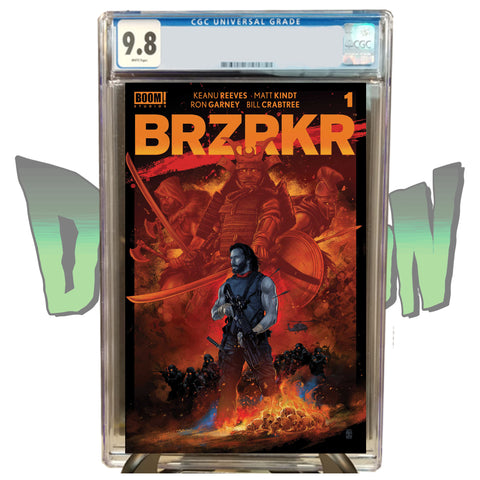 BRZRKR #1 VANCE KELLY DIMENSION X COMICS EXCLUSIVE RED VARIANT CGC 9.8