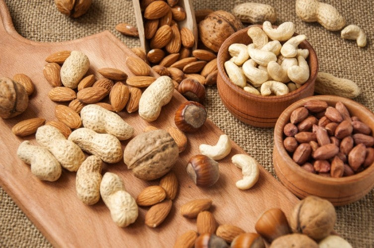 WALNUTS AND PEANUTS PROTECT THE HEART.