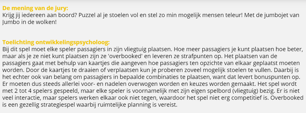 Jury rapport Overbooked