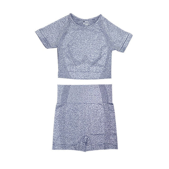 2 Piece Set Short Light Grey