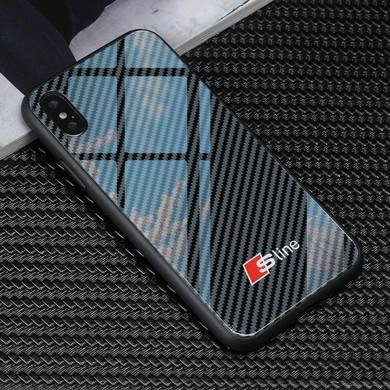 Luxury S-line Carbon Fiber Style Case For  Iphone & Samsung