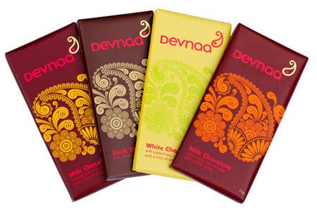 Devnaa Milk, White and Dark Chocolate Bar Collection