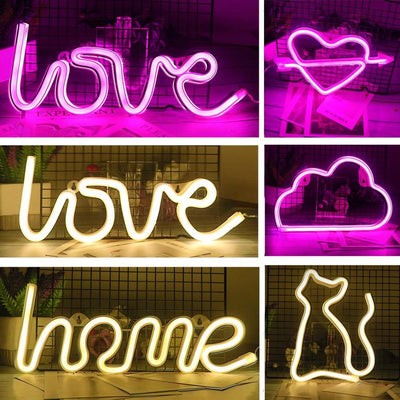 Creative LED Neon Light Lamps - Shopflics