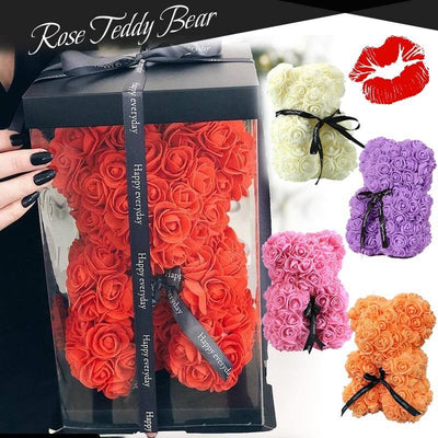 Rose Bear Flowers Roses Teddy Bear - Shopflics