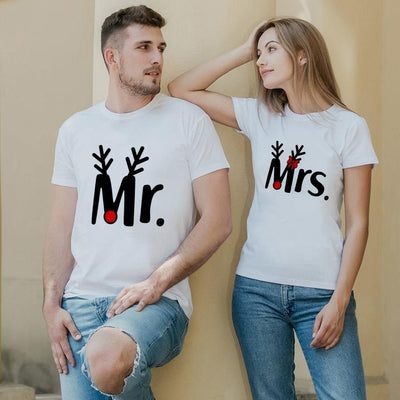 Casual Mr and Mrs T-shirts - Shopflics