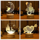 Valentine's Day Gift  Love 3D Lamp - Shopflics