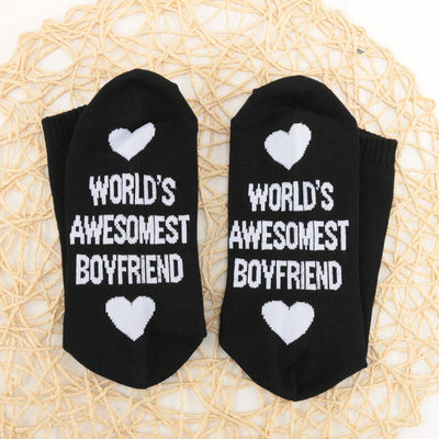 World's Awesomest Boyfriend/Girlfriend Socks